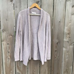 Honey Punch Rivington Blush Textured Open Cardigan